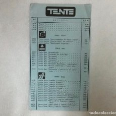 Juegos construcción - Tente: ANTIGUA TARIFA DE TENTE. Lote 213768896
