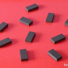 Juegos construcción - Tente: 10 PLACAS 2X1 LISAS VERDE ESCORPION. COMPATIBLE 100% CON TENTE. Lote 228862966