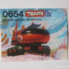 Jeux construction - Tente: TENTE 0654-UNIDAD SIDERAL RESCATE-INSTRUCCIONES MONTAJE. Lote 214482585