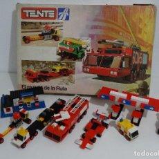 Juegos construcción - Tente: TENTE RUTA REF: 0553 EL MUNDO DE LA RUTA CAJA GIGANTE EXIN MADE IN SPAIN AÑOS 70S Y 80S TIPO LEGO. Lote 215025145