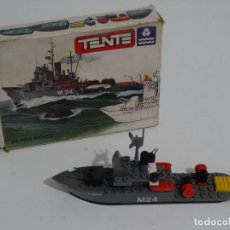 Juegos construcción - Tente: TENTE MAR REF: 0600 BARCO DRAGAMINAS EXIN MADE IN SPAIN AÑOS 70S Y 80S TIPO LEGO. Lote 215026871