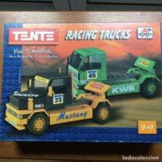 Juegos construcción - Tente: TENTE RACING TRUCKS INCOMPLETO CON CAJA E INSTRUCCIONES MUY RARO. Lote 215665642