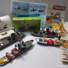 Juegos construcción - Tente: TENTE BARCOS LOTE 4 HURON ,MARTE,COBRA Y HERMES ORIGINALES MÁS COMPLEMENTOS. Lote 217033403