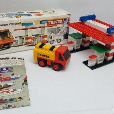 Jogos construção - Tente: TENTE GASOLINERA Y CAMION CISTERNA CAMPSA 0692. Lote 220709347