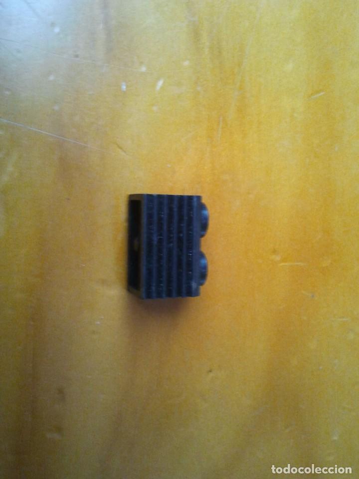 Juegos construcción - Tente: Pieza TENTE, ladrillo con rejilla. Color negro 2x1 pin. - Foto 2 - 223150060