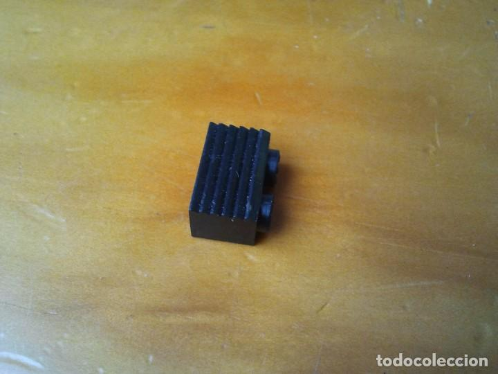 Juegos construcción - Tente: Pieza TENTE, ladrillo con rejilla. Color negro 2x1 pin. - Foto 3 - 223150060