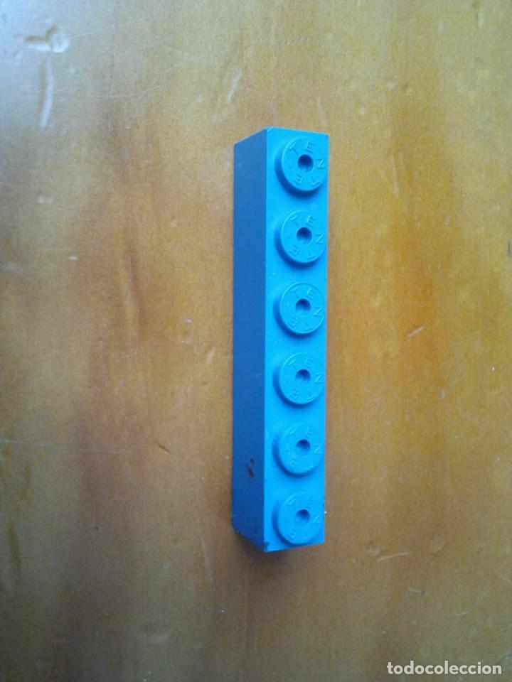Juegos construcción - Tente: TENTE pieza letrero de Gasolinera en color azul con 6x1 pin. Serigrafiada en letras blancas. - Foto 2 - 223597631