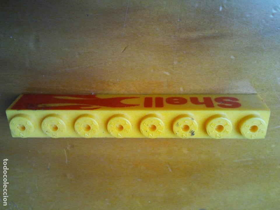 Juegos construcción - Tente: Pieza TENTE serigrafiada a dos caras Shell. Color amarillo y letras rojas. Conector 8x1. - Foto 2 - 223829213