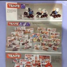 Juegos construcción - Tente: CATÁLOGO TENTE, AÑOS 80. Lote 224341111