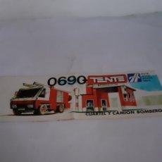 Juegos construcción - Tente: TENTE EXIN INSTRUCCIONES TENTE RUTA CUARTEL.Y CAMION BOMBEROS REF 0690. Lote 229515140