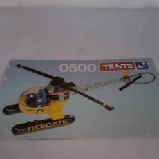 Juegos construcción - Tente: TENTE EXIN INSTRUCCIONES HELICOPTERO RESCATE REF 0500. Lote 229519410