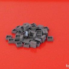 Juegos construcción - Tente: 50 PLACAS 1X1 PISTA DE ATERRIZAJE GRIS NAVAL. COMPATIBLE 100% CON TENTE. Lote 235451270