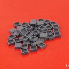Juegos construcción - Tente: 50 PLACAS 1X1 LISA GRIS NAVAL. COMPATIBLE 100% CON TENTE. Lote 235452870