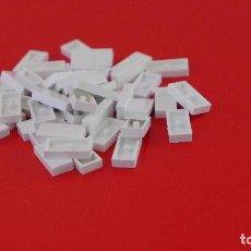 Juegos construcción - Tente: 50 PLACAS 2X1 LISA BLANCAS. COMPATIBLE 100% CON TENTE. Lote 235454665