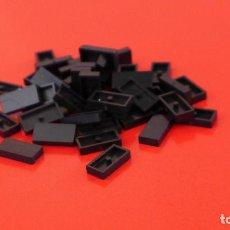 Juegos construcción - Tente: 50 PLACAS 2X1 LISA NEGRAS. COMPATIBLE 100% CON TENTE. Lote 235454910