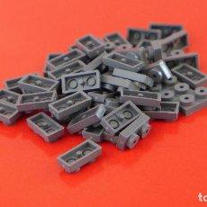 Juegos construcción - Tente: 50 PLACAS 2X1 CON TETÓN GRIS NAVAL. COMPATIBLE 100% CON TENTE. Lote 235455895