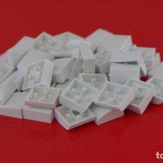 Juegos construcción - Tente: 50 PLACAS 2X2 GORDA LISA BLANCAS. COMPATIBLE 100% CON TENTE. Lote 235456355