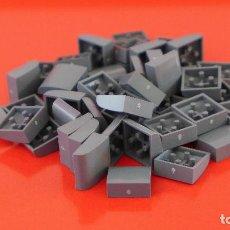 Juegos construcción - Tente: 50 PLACAS 2X2 GORDA LISA GRIS NAVAL. COMPATIBLE 100% CON TENTE. Lote 235456840