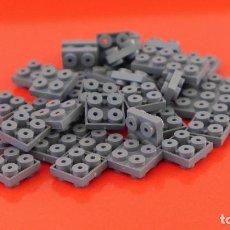 Juegos construcción - Tente: 50 PLACAS 2X2 MACHO MACHO GRIS NAVAL. COMPATIBLE 100% CON TENTE. Lote 235458780