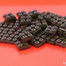 Juegos construcción - Tente: 50 PLACAS 2X2 MACHO MACHO ESCORPIÓN. COMPATIBLE 100% CON TENTE. Lote 235459000