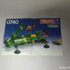 Juegos construcción - Tente: TENTE ASTRO INSTRUCCIONES TRANSPORTE INTERESTELAR 0740 SATURNO. Lote 235997110