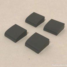 Juegos construcción - Tente: 4 PLACA 2X2 GORDA LISA GRIS NAVAL. COMPATIBLE 100% CON TENTE. Lote 236313330