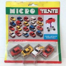 Juegos construcción - Tente: TENTE MICRO VEHICULOS 4 ROJO/AMARILLO/BLANCO/ROJO. NUEVO. VINTAGE. Lote 239577320