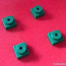 Juegos construcción - Tente: 4 PLACAS 1X1 TETÓN VERDE. COMPATIBLE CON TENTE. Lote 240147745