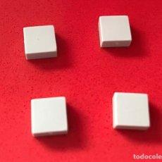 Juegos construcción - Tente: 4 PLACAS 1X1 LISA GRIS CLARO. COMPATIBLE CON TENTE. Lote 240148845