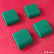 Juegos construcción - Tente: 4 PLACAS 2X2 GORDA LISA VERDE. COMPATIBLE CON TENTE. Lote 240151380