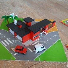 Juegos construcción - Tente: TENTE MICRO EXIN REF 0421 ESTACION DE BOMBEROS - COMPLETO. Lote 241048795