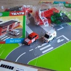 Juegos construcción - Tente: TENTE MICRO EXIN REF 0421 ESTACION DE BOMBEROS NUEVA - COMPLETO. Lote 241049480