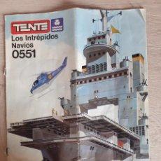 Jeux construction - Tente: TENTE EXIN MAR INSTRUCCIONES MANUAL MONTAJE INTRÉPIDOS NAVIOS 0551. Lote 243031120