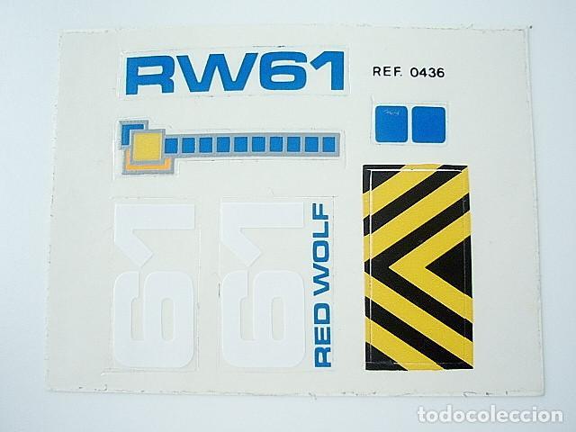 TENTE EXIN COSMIC HOJA DE PEGATINAS DEL RED WOLF. REFERENCIA 0436 (Juguetes - Construcción - Tente)