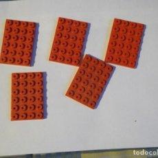 Juegos construcción - Tente: TENTE 5 PLACAS BASE 6 X4 ROJAS. Lote 244759780