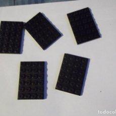Juegos construcción - Tente: TENTE 5 PLACAS BASE 6 X4 NEGRAS. Lote 244760010