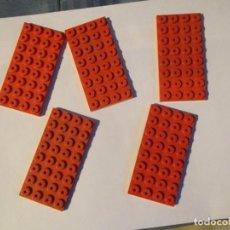 Juegos construcción - Tente: TENTE 5 PLACAS BASE 8 X4 ROJAS. Lote 244760300