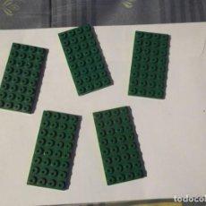Juegos construcción - Tente: TENTE 5 PLACAS BASE 8 X4 VERDE. Lote 244760465