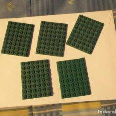 Juegos construcción - Tente: TENTE 5 PLACAS BASE 8 X 6 VERDE. Lote 244760730