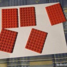 Juegos construcción - Tente: TENTE 5 PLACAS BASE 8 X 6 ROJAS. Lote 244761125