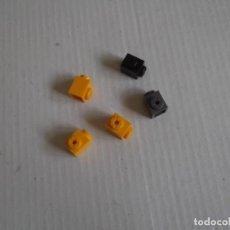 Juegos construcción - Tente: TENTE 5 BLOQUES 1X1 TETON LATERAL 3 AMARILLOS-1 NEGRO 1 GRIS. Lote 244762270