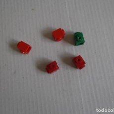Juegos construcción - Tente: TENTE 5 BLOQUES 1X1 TETON LATERAL 2 ROJOS-2 GRANATES-1 VERDE. Lote 244762405