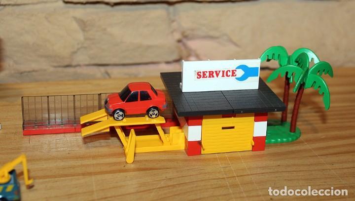 Juegos construcción - Tente: MICRO TENTE - EXIN - 0423 - TALLER Y ESTACION DE SERVICIO - GASOLINERA - COMPLETO - MUY BUEN ESTADO - Foto 2 - 245068070