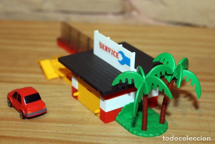 Juegos construcción - Tente: MICRO TENTE - EXIN - 0423 - TALLER Y ESTACION DE SERVICIO - GASOLINERA - COMPLETO - MUY BUEN ESTADO - Foto 8 - 245068070