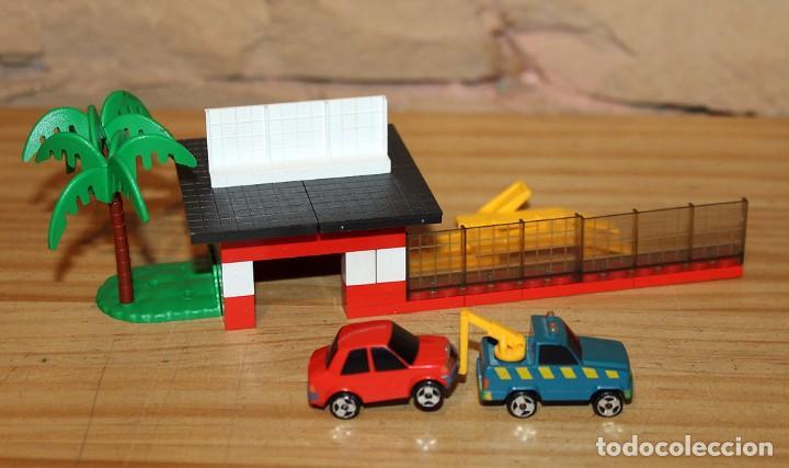 Juegos construcción - Tente: MICRO TENTE - EXIN - 0423 - TALLER Y ESTACION DE SERVICIO - GASOLINERA - COMPLETO - MUY BUEN ESTADO - Foto 9 - 245068070
