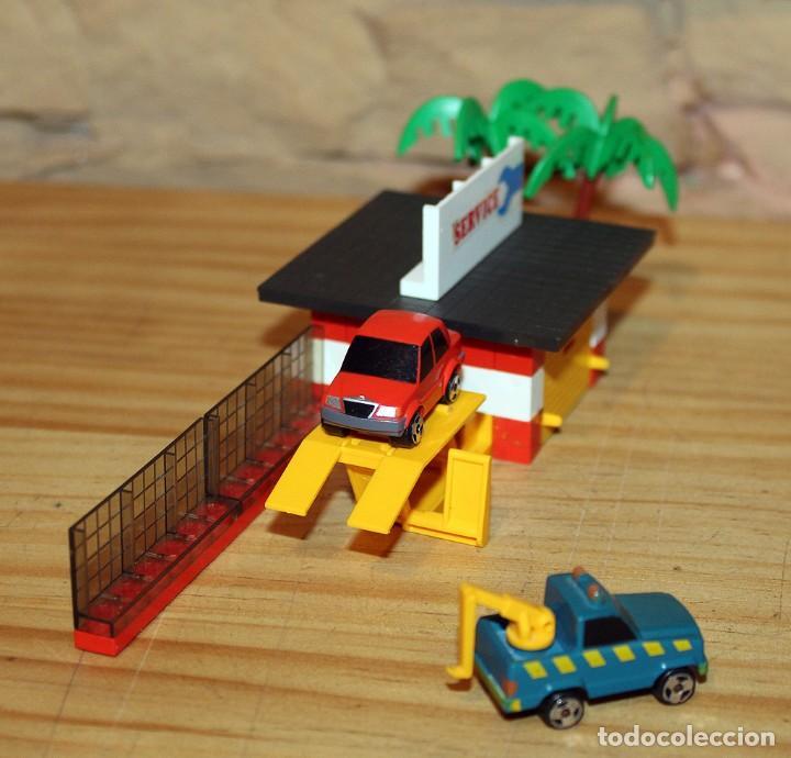 Juegos construcción - Tente: MICRO TENTE - EXIN - 0423 - TALLER Y ESTACION DE SERVICIO - GASOLINERA - COMPLETO - MUY BUEN ESTADO - Foto 10 - 245068070