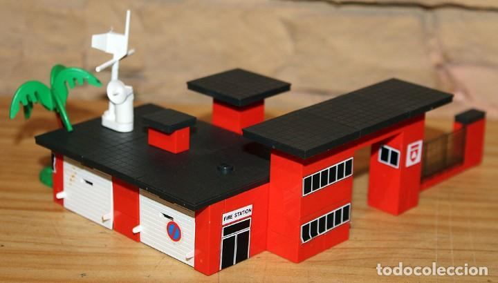 MICRO TENTE - EXIN - 0421 - FIRE STATION - ESTACION BOMBEROS - BUEN ESTADO (Juguetes - Construcción - Tente)