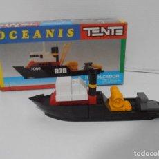 Juegos construcción - Tente: TENTE OCEANIS, REMOLCADOR EXIN REF 0650, CASI COMPLETO CON CAJA. Lote 246095160