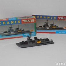 Juegos construcción - Tente: TENTE OCEANIS. DESCUBIERTA, EXIN REF 0651 CASI COMPLETO CON CAJA E INSTRUCCIONES. Lote 246095760
