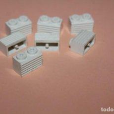 Juegos construcción - Tente: CONJUNTO DE 7 PIEZAS BLANCAS ACANALADAS DE 2 X 1. TENTE. AÑOS 80. VER FOTOS. PERFECTAS.. Lote 251548935
